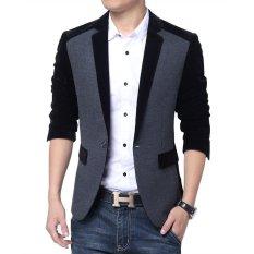 Spesifikasi Blazer Pria Jas Pria Grey Black Comby Lengkap Dengan Harga