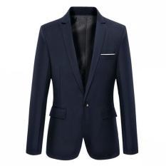 Harga Blazer Pria Jas Pria Navy Blue Slim New