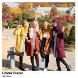 Blazer Wanita F Cape Wanita Colour Blazer Original