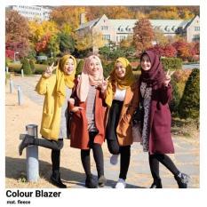 Harga Blazer Wanita F Cape Wanita Colour Blazer Satu Set