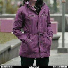 Tips Beli Blessher Jaket Parka Wanita Premium Baby Canvas 5903 Violet Yang Bagus