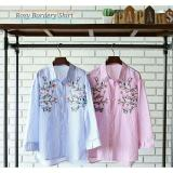 Toko Blessshopping Rose Bordery Shirt Blue Bless Di Indonesia