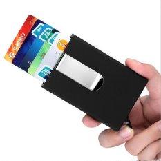 Bllevie Rfid Dompet Uang Klip Mens Kulit Slim Blocking Pemegang Id Kartu Kredit Hitam Diskon Akhir Tahun