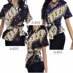 Jual Beli Blouse Atasan Batik Blus Kemeja A403 Lengan Pendek Di Indonesia