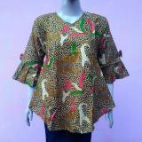 Harga Blouse Batik Blus Batik Atasan Batik Wanita Kemeja Batik Wanita Ptri2 Multi Original