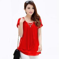 Harga Blouse Korean Style Variasi Mutiara Merah Origin