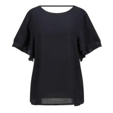 Blouses Shirts Summer new European and American lotus leaf trumpet sleeves loose loose wild chiffon shirt - intl