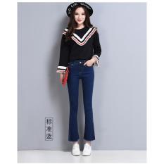 Toko Blue Women Casual Slim Vintage Denim Blue Black Jeans Stretch Skinny Wanita Tinggi Pinggang Celana Elastis Ukuran Wanita Jeans Celana Intl Dekat Sini