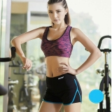 Blue Women Loose Kecepatan Kering Sport Yoga Shorts High Waist Fitness Menjalankan Pendek Jogging Workout Pants Original