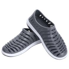 Bluelans Pria Karet Berongga Olahraga Mengenakan Sepatu Sandal Sepatu Musim Panas Pantai Abu Abu Murah
