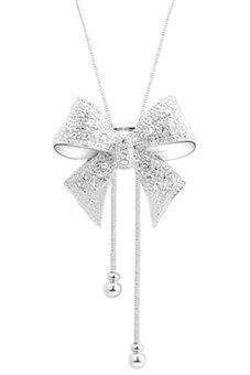 Review of Bluelans® kalung berlian imitasi dasi kupu-kupu pasangan (Perak) anggaran terbaik - Hanya Rp29.151