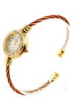 Beli Barang Bluelans® Steel Wire Crystal Quartz Bangle Wrist Watch Red Online