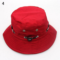 Spesifikasi Bluelans® Musim Panas Travel Hunting Fishing Outdoor Cap Bucket Hat Merah Intl Terbaru