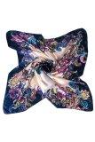 Katalog Bluelans® Wanita Syal Persegi Bercat Bunga Satin Sutra Tiruan Kepala Leher Selendang Biru Tua Coklat Blue Lans Terbaru