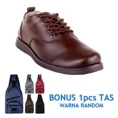 Blues Footwear Sepatu Pria Kasual 02 - Cokelat - Bonus Tas