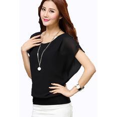 Harga Blus Atasan Wanita Korean Style Chiffon Spandek Wing Blouse Lengkap