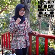 Blus Batik Atasan Batik Wanita Batik Wanita 003 Multi Murah Di Indonesia