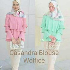 Blus Hijab Murah / Atasan Muslim Wanita Terbaru : Cassandra Blouse