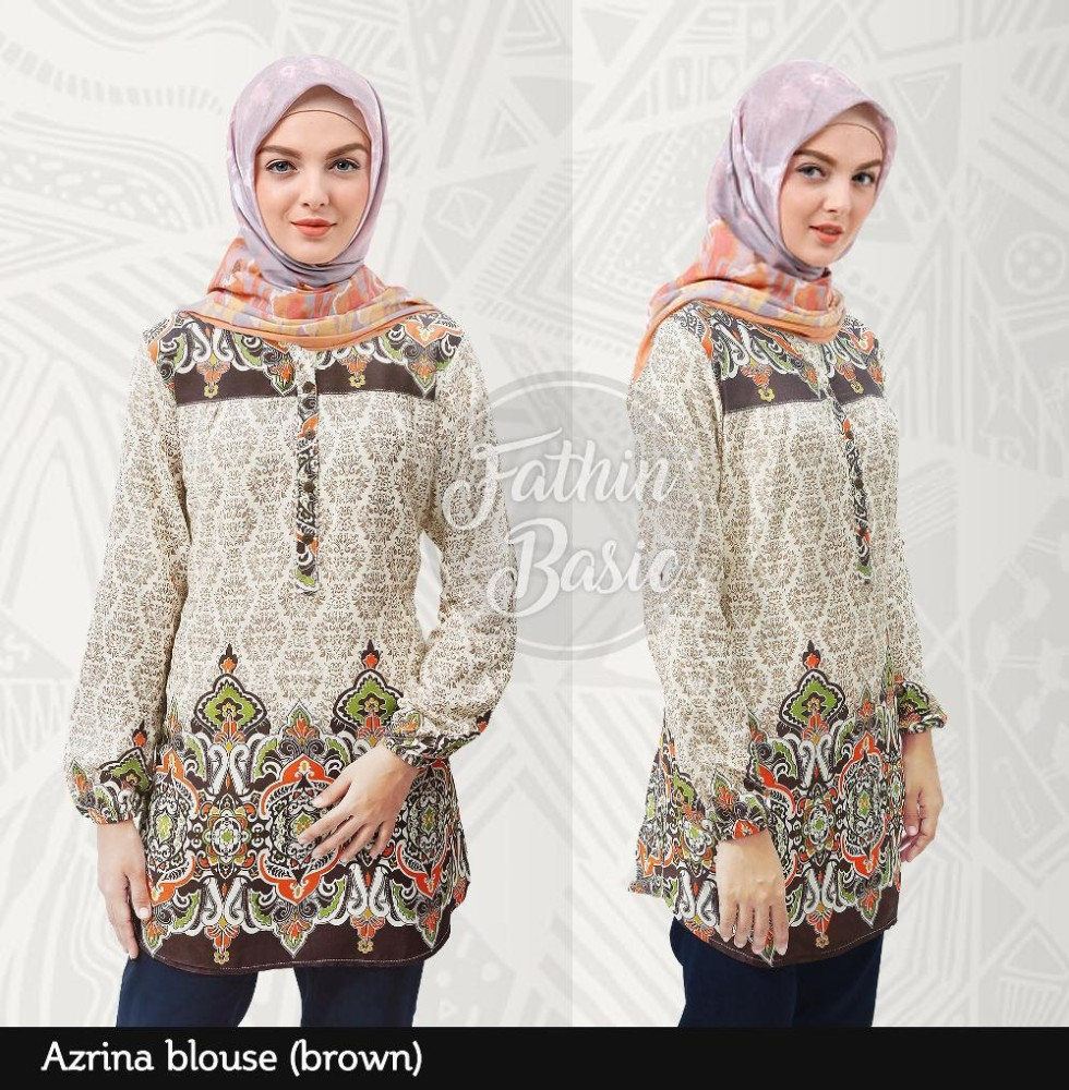 Beli Murah Harga Diskon Baju Atasan Wanita Tunik Muslim Blus Blouse Erkud Sku Id Dgdara Azrina