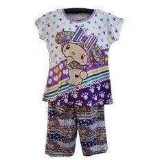 Jual Bnv Baju Tidur Babydoll Setelan 7711 Ungu Lengkap