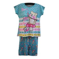 BnV Baju Tidur BabyDoll Setelan #8804 - Hijau