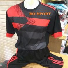 BO SPORT Setelan Futsal Motif  Ac Milan 3rd