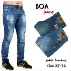 Boa Ripped Jeans Premium Size 27-32 / Celana Jeans Panjang Sobek Robek - Dcebea