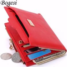 Promo Bogesi Dompet Wanita Dompet Lipat Dompet Kulit Merah Akhir Tahun