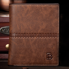 Toko Bogesi Fashion Mens Genuine Leather Bifold Wallet Credit Id Card Holder Slim Coin Purse Coffee Color Tiongkok