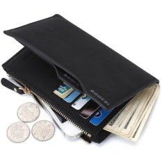BOGESI Men Dompet Pria Import Model Terbaru Batam Kulit Wallet With phone and Coin Bag Man Purse Color - Hitam