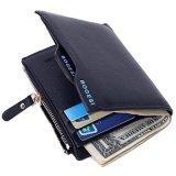 Jual Bogesi Men Wallet New Genuine Leather Card Holder Coin Purse Pockets Hitam Baru