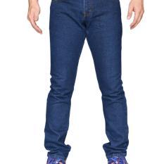 Spesifikasi Bohel Celana Jeans Regular Pria Men S Panjang Navy Blue Biru Tua Lengkap