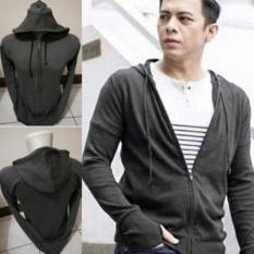 Beli Bohel Sweater Jaket Pria Hooded Rajut Halus Abu Bohel Online