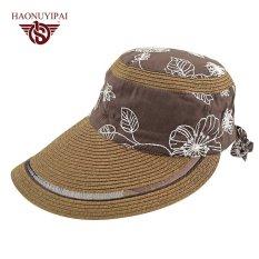 Bohemia Sun Topi untuk Wanita Musim Panas Aksesoris Headwear Warna Kopi  Hitam Trip Beach Jerami Panjang 50de045a64