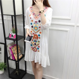 Review Pada Bohemian Ukuran Besar Tipis Pantai Gaun Sifon Pantai Gaun Pantai Putih Putih Baju Wanita Dress Wanita Gaun Wanita