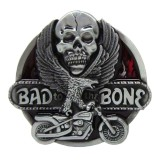 Spesifikasi Bolehdeals Bad To The Bone Skull Flying Eagel Motorcycle Metal Belt Buckle Western Cowboy Intl Terbaru