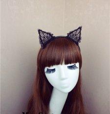 Promo Toko Bolehdeals Hitam Bando Telinga Kucing Dengan Renda Untuk Pesta Kostum Fancy Dress