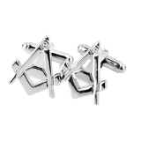 Spesifikasi Sepasang Manset Warna Silver Bagus