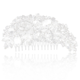 Review Tentang Bolehdeals Mewah Bridal Pernikahan Mawar Bunga Berlian Imitasi Harga Sisir Rambut Mm X 80Mm Untuk Rambut