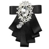 Beli Bolehdeals Pria Mempelai Dasi Kupu Kupu Pesta Pernikahan Tari Pita Diamand Dasi Hitam Internasional Online