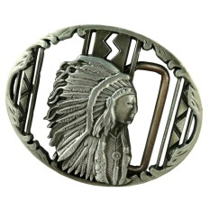 Bolehdeals Vintage Silver Indian Belt Buckle Native American Western Cowboy Buckle Intl Bolehdeals Diskon