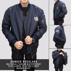 Harga Hemat Bomber Masa Kini Rockland Original Made In West Java Navy