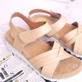 Toko Bondshop New Sandal Wanita Wedges Cream Sepatu Sendal Cewek Cream Oem Indonesia