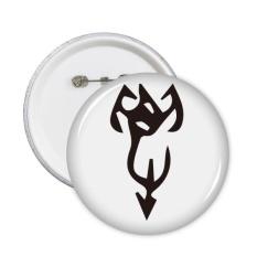 Tulang Prasasti Cina Nama Karakter Xie Round Pins Lencana Tombol Pakaian Dekorasi Hadiah 5 Pcs-Intl