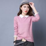 Harga Sweater Cardigan Atasan Keren Wanita Bahan Rajut Warna Merah Muda Online