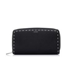 Bonia Black Bianca Zipper Wallet