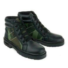 Boots Anak Loreng-Sepatu Anak Pria-Docmart Hitam BKL Distro