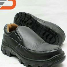 Boots Safety - Sepatu Pria Boots Safety  Pendek Pria Wanita Model Slip On Kerja Bahan Kulit Sapi Asli 100%
