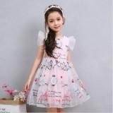 Model Bordir Baru High End Perempuan Lengan Pendek Gaun Putri Organza Gaun Putri Terbaru