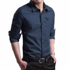 Bosbaju Kemeja Pria Lengan Panjang Alvaro Miller - navy